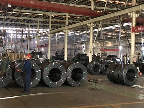 Production process of prestressed concrete strand